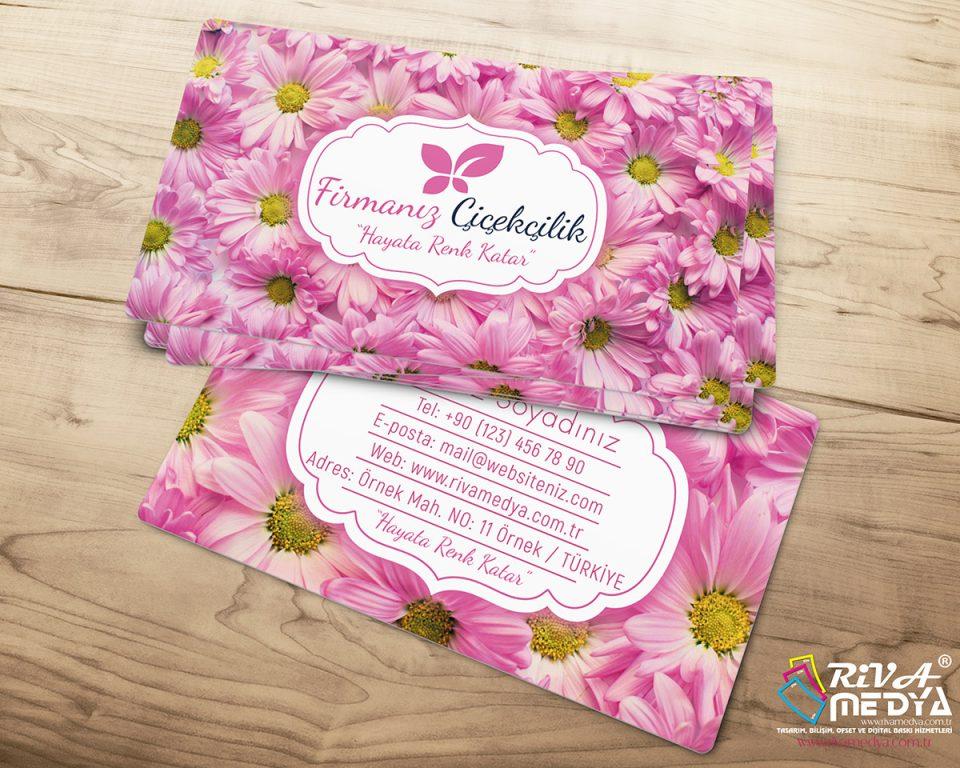 Çiçekçi Kartvizit - Papatya - Hazır Kartvizit Tasarımı