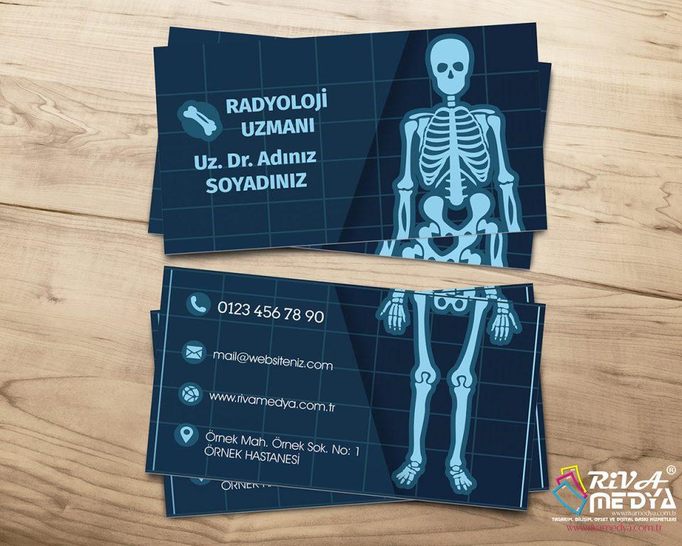 Radyoloji Uzmanı Kartvizit - Hazır Kartvizit Tasarımı