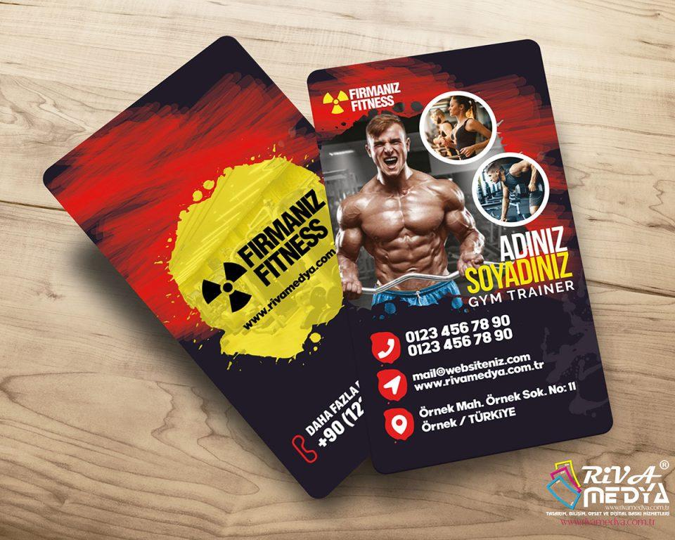 Fitness 02 Kartvizit - Hazır Kartvizit Tasarımı