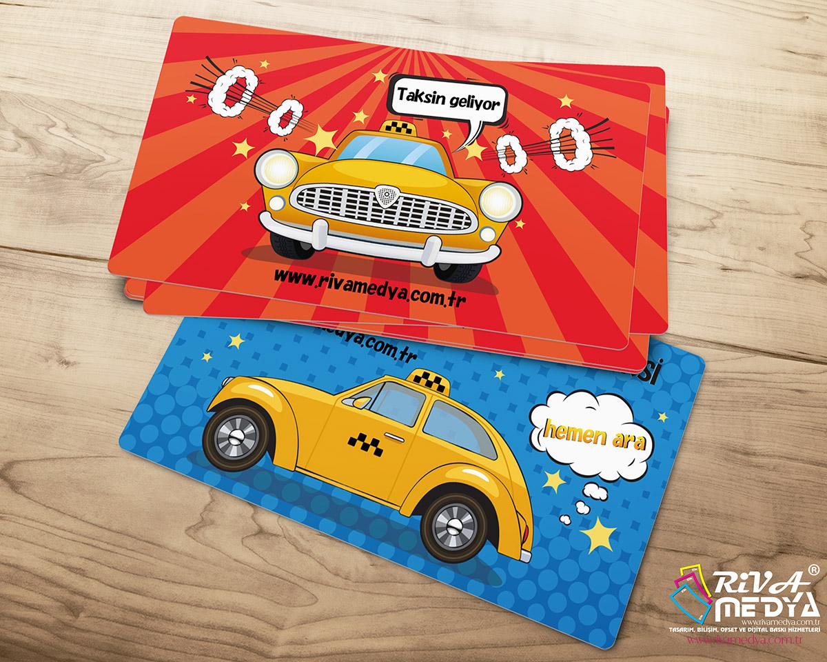 Cartoon Taksi Kartvizit - Hazır Kartvizit Tasarımı
