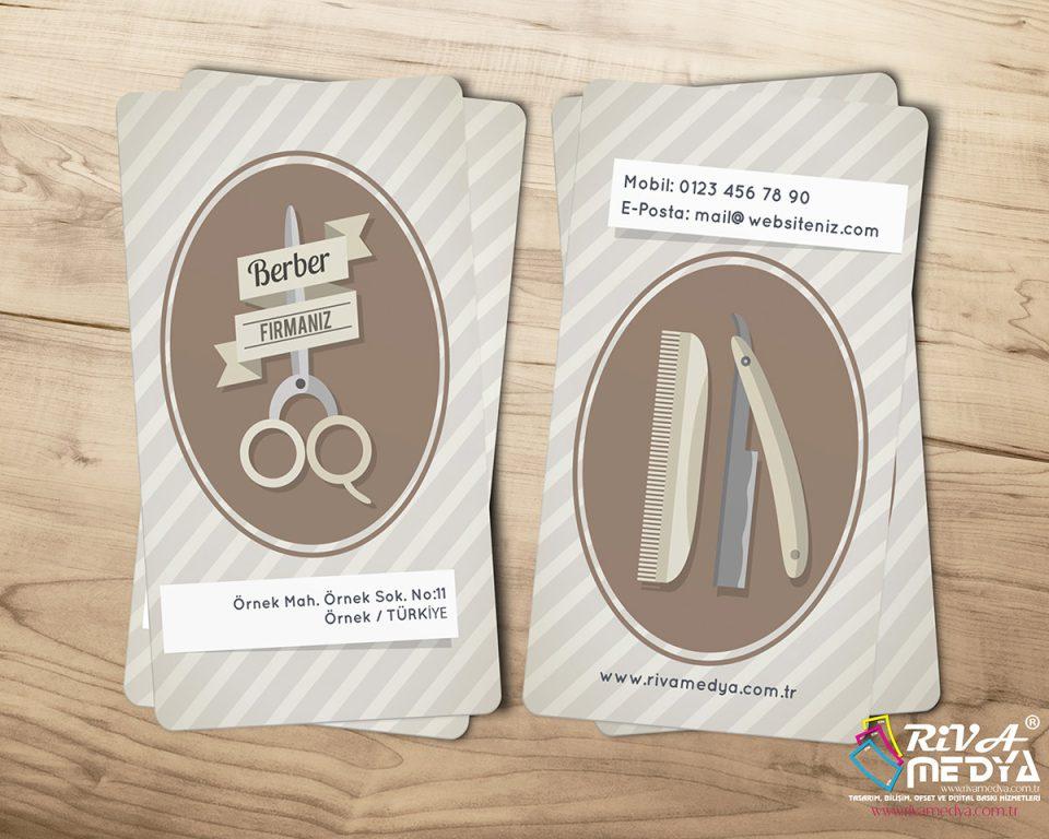 Nostaljik 02 Berber Kartvizit - Hazır Kartvizit Tasarımı