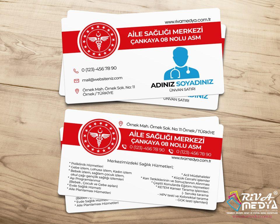 Aile Sağlığı Merkezi Kartvizit - Hazır Kartvizit Tasarımı