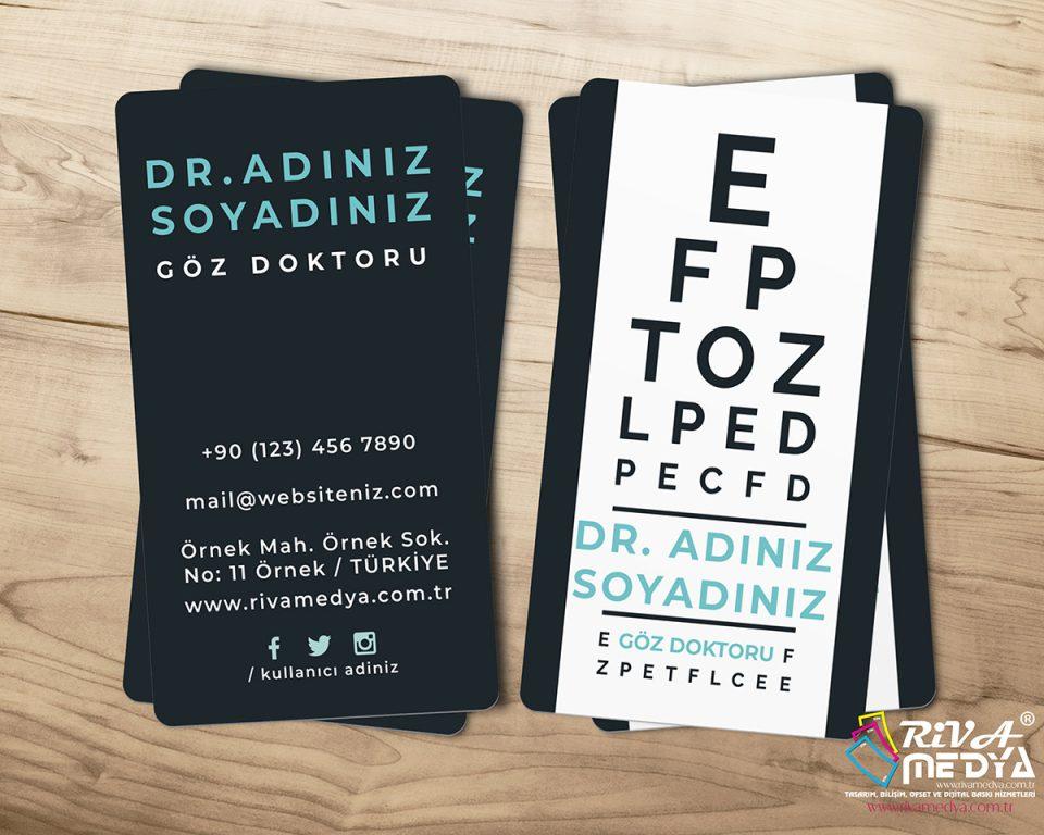 Göz Doktoru Kartvizit - Hazır Kartvizit Tasarımı