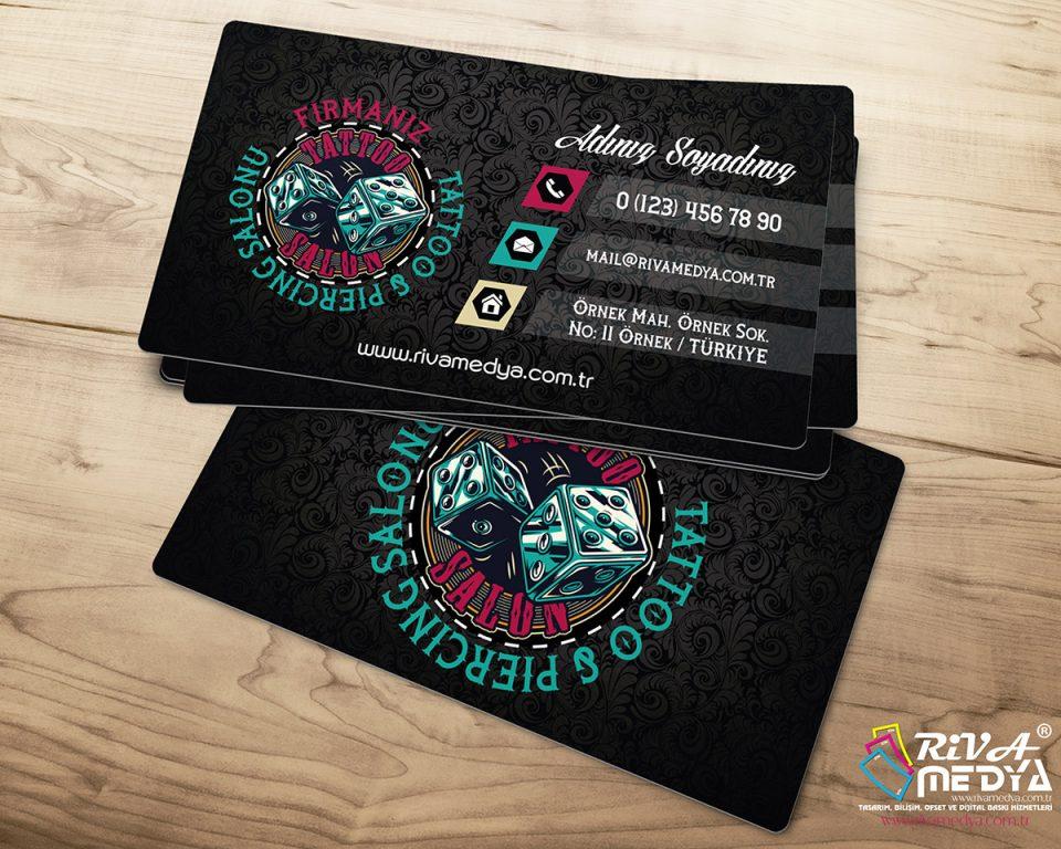 Tattoo & Piercing Salonu 02 Kartvizit - Hazır Kartvizit Tasarımı