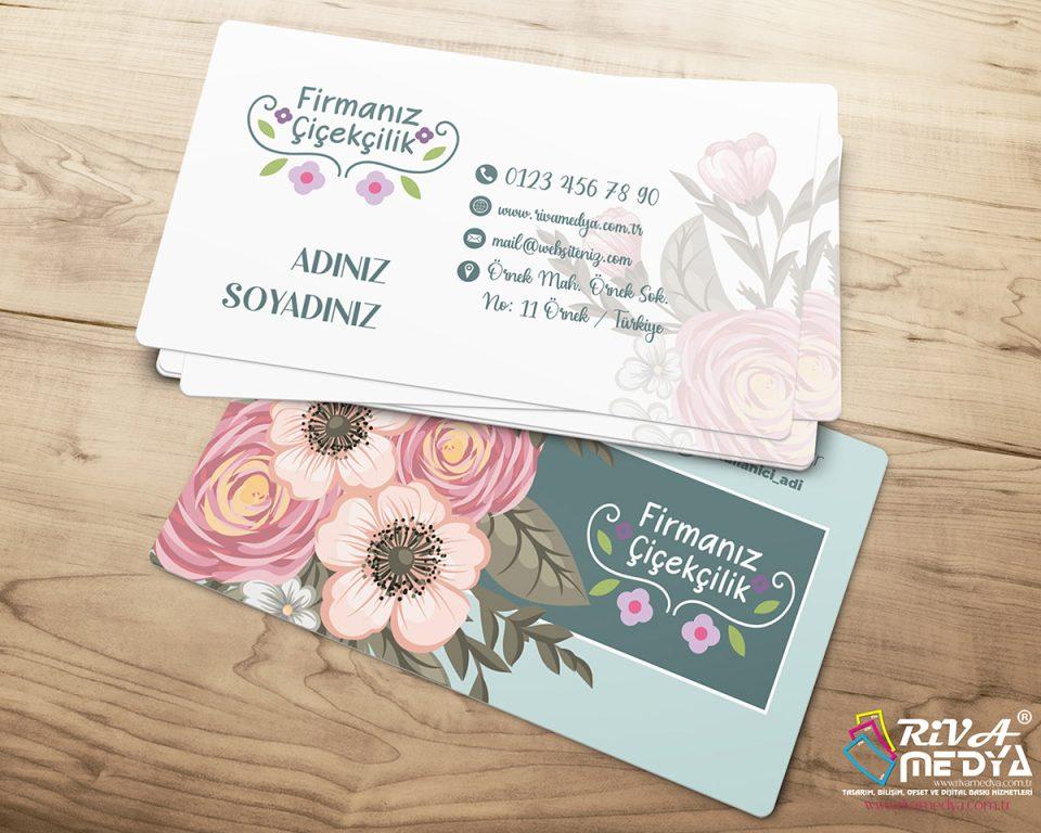Çiçek Galerisi Kartvizit - Hazır Kartvizit Tasarımı