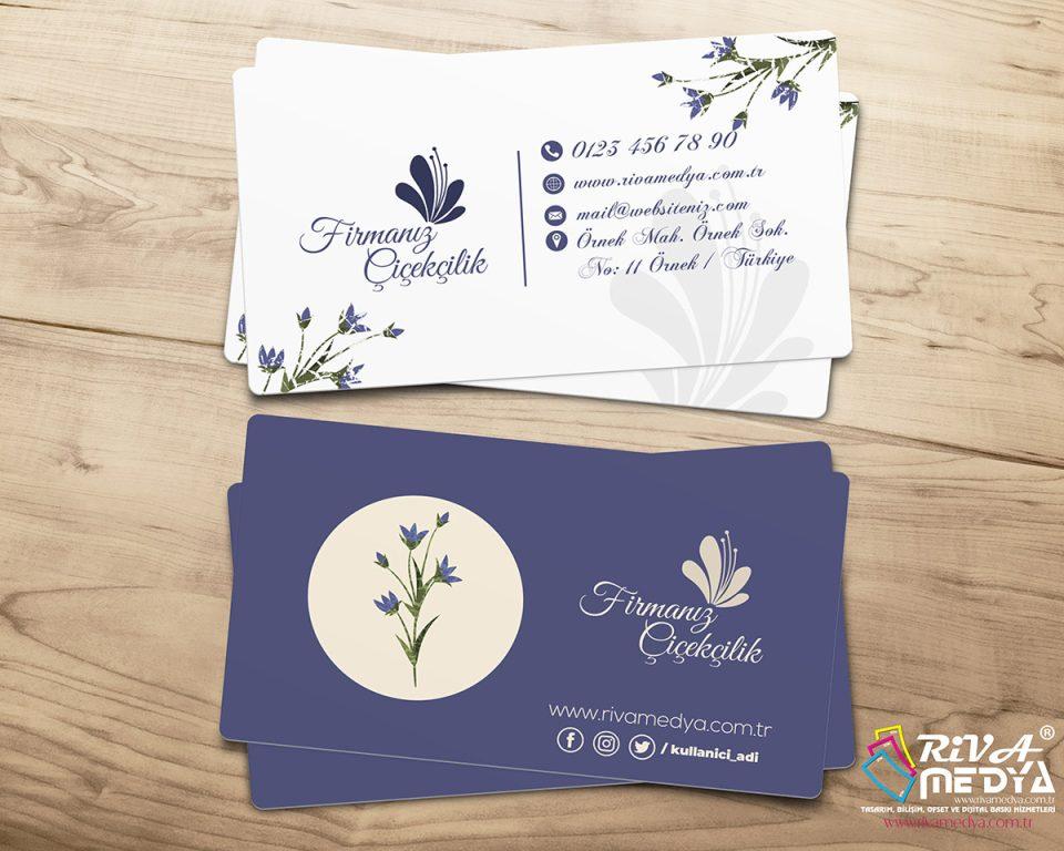 Çiçekçilik Kartvizit - Hazır Kartvizit Tasarımı