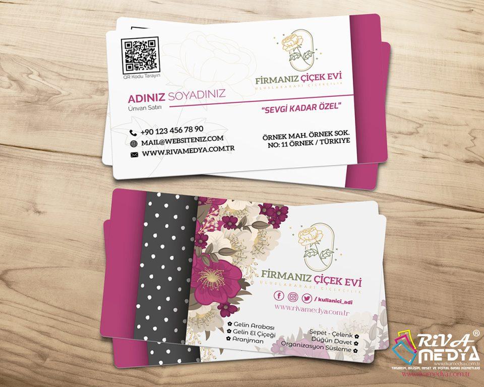 Çiçekçi Kartvizit - Hazır Kartvizit Tasarımı
