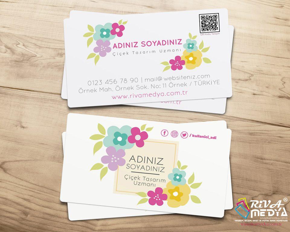 Çiçek Tasarım Uzmanı Kartvizit - Hazır Kartvizit Tasarımı
