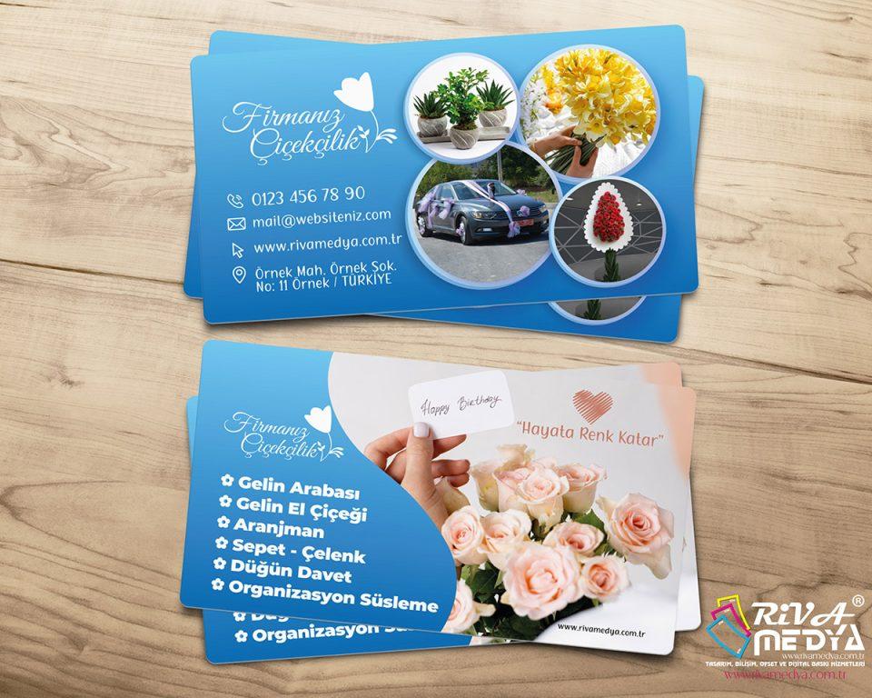 Çiçekçi Kartvizit – Fotoğraflı - Hazır Kartvizit Tasarımı