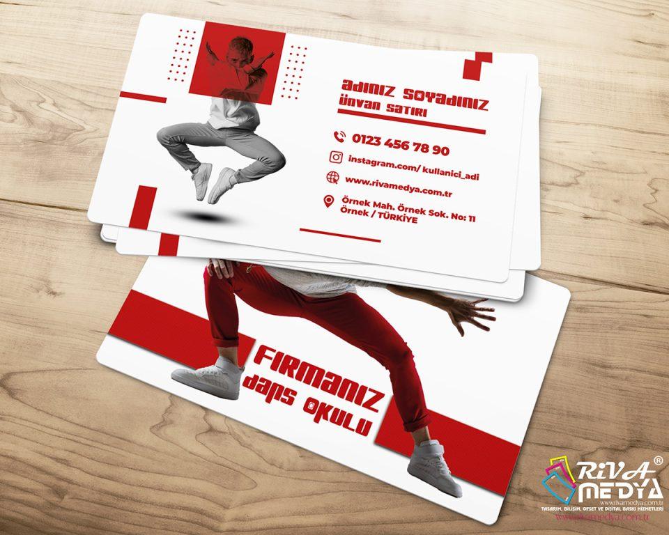 Dans Okulu Kartvizit - Hazır Kartvizit Tasarımı