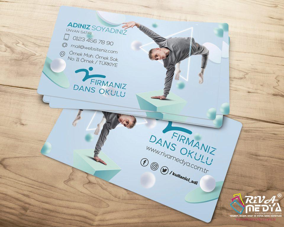 Dans Okulu 02 Kartvizit - Hazır Kartvizit Tasarımı