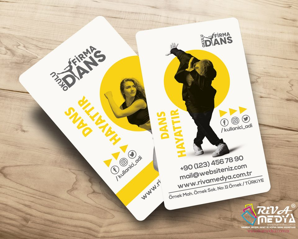 Dans Kulübü Kartvizit - Hazır Kartvizit Tasarımı