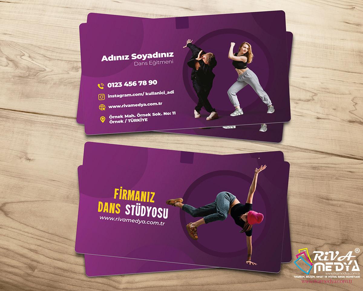 Dans Eğitmeni Kartvizit - Hazır Kartvizit Tasarımı