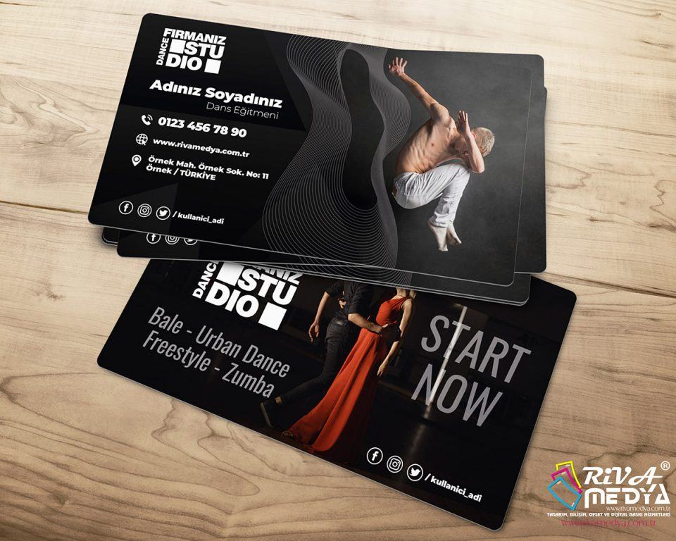 Dance Studio Kartvizit - Hazır Kartvizit Tasarımı